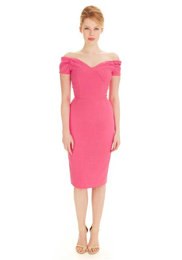 Fatale Hot Pink Dress, The Pretty Dress Company - Ladida Boutique