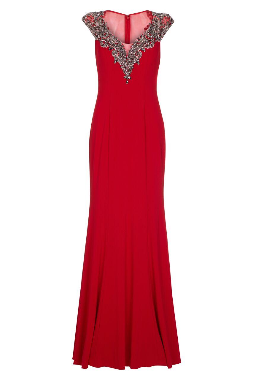 1012927 Frida Cherry Red Long Dress af9ea37ca