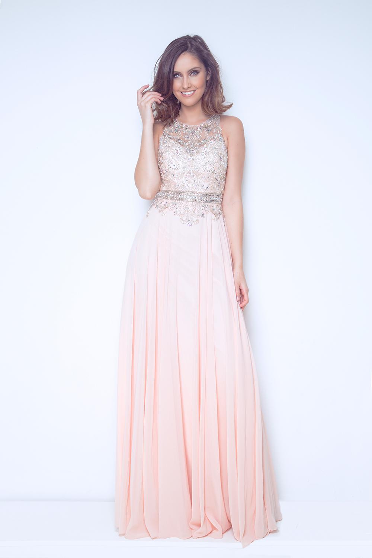 Cierra Peach Full length gown 1022801 799cebfc8