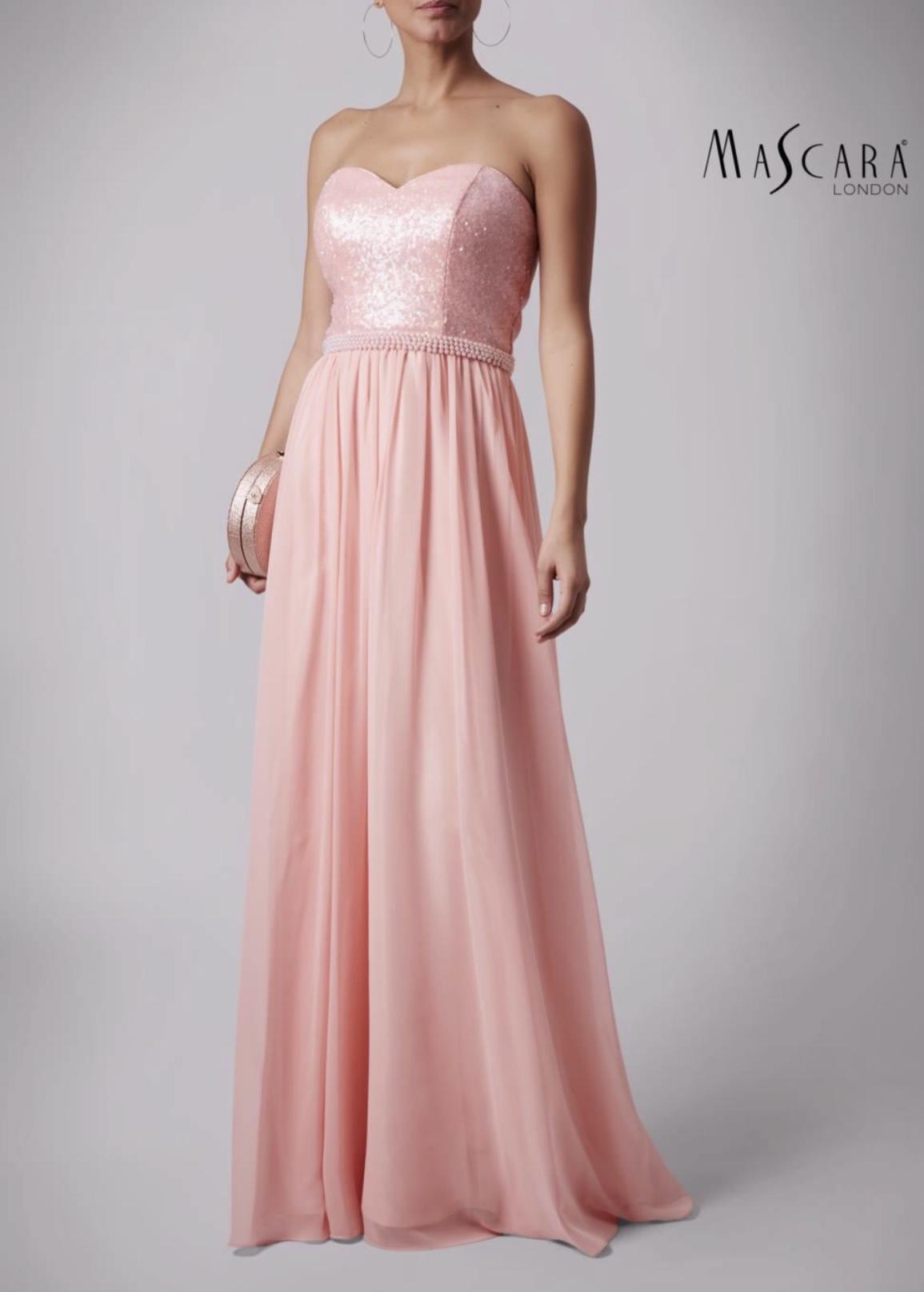 4c7ed83f13 Mascara Sequin Bodice Gown Blush MC186006 - Ladida Boutique