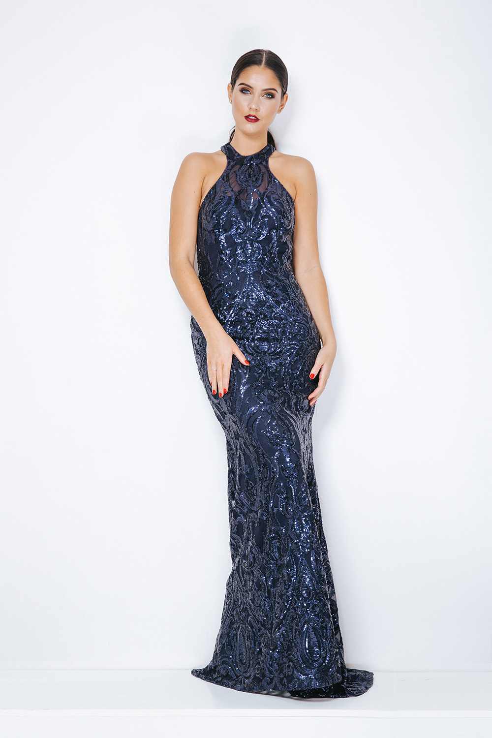7fef0c37bf Dynasty London 1013341 full length sequin gown - Ladida Boutique