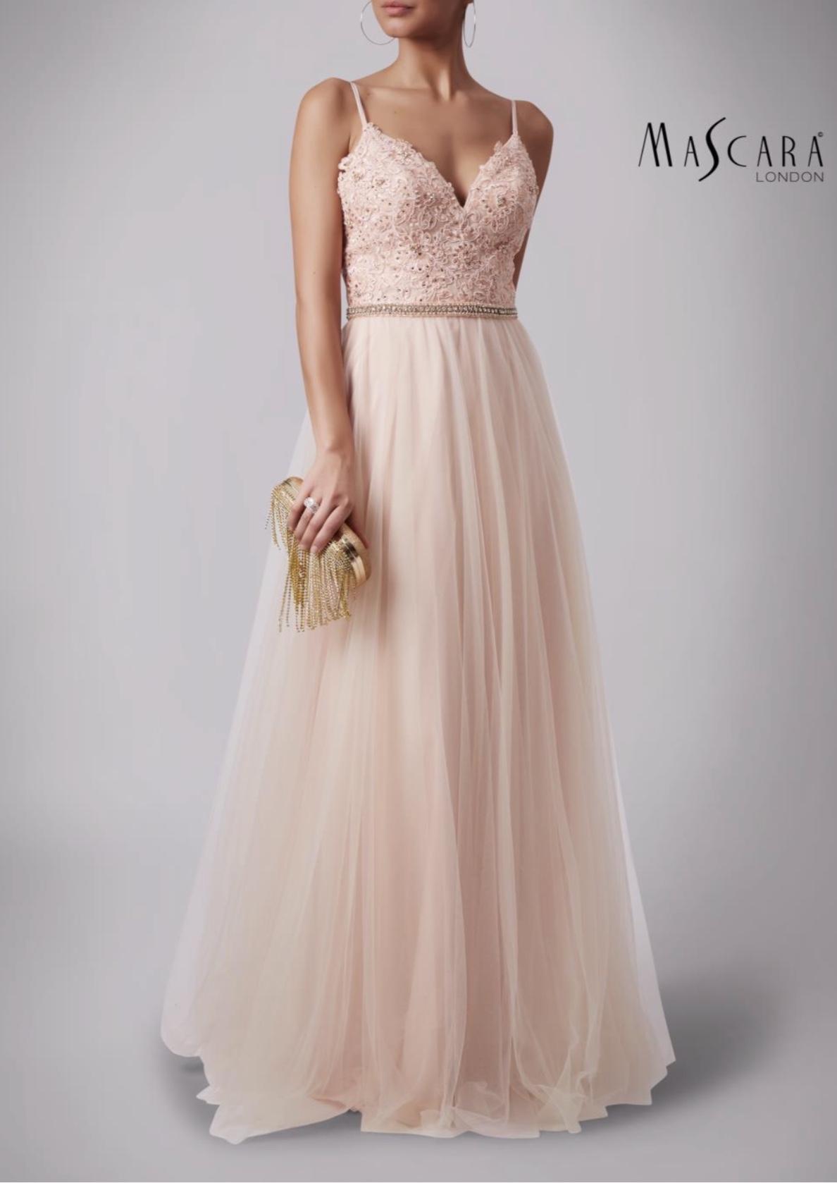 Lace bodice gown Peach c27ff6344